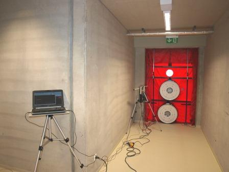 Referenz Blower-Door-Test Angerhalle Coburg