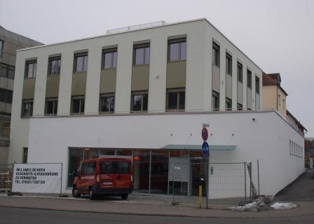 Referenz Blower-Door-Test Geschäftshaus in Straubing